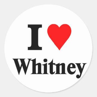 Love Whitney Classic Round Sticker