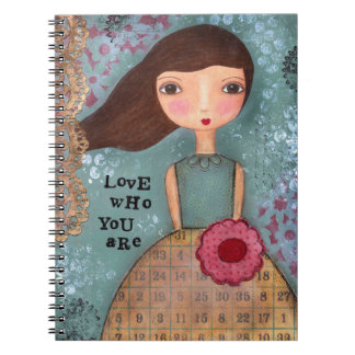 Love Who You Are Mixed Media Notebook Journal