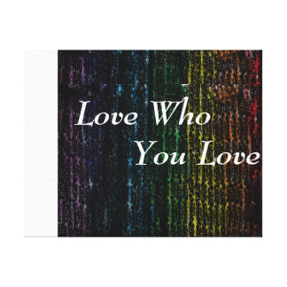 Love Who You Love Panel Canvas Print