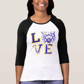 Love Wildcat Football Sports Tee