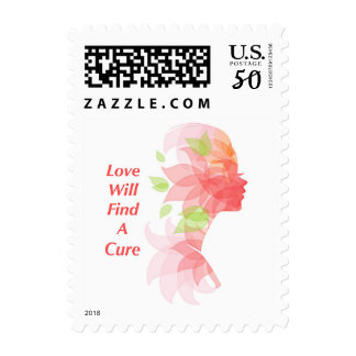 Love Will Find A Cure Postage Stamp