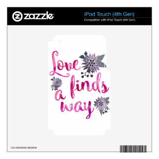 Love will find a way iPod touch 4G decal