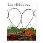 Love will find a way postcard