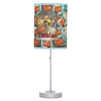 Love will follow Cat Heart Table Lamp