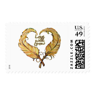 Love will grow postage