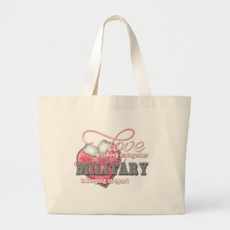 Love will keep us together large tote bag