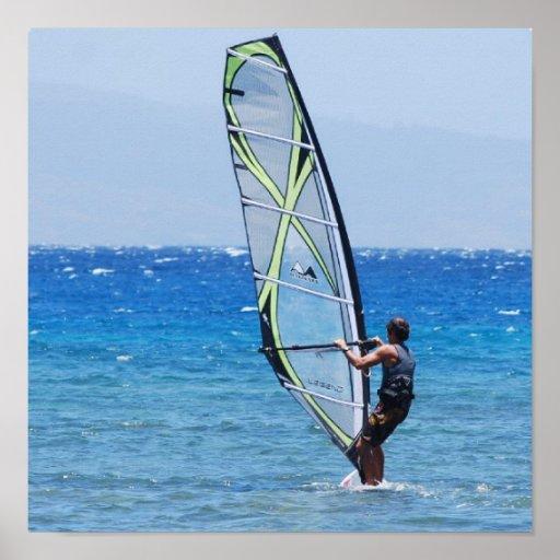 Love Windsurfing Poster