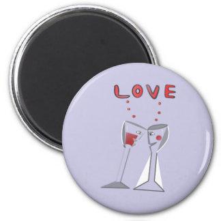 Love Wine Glasses Magnet