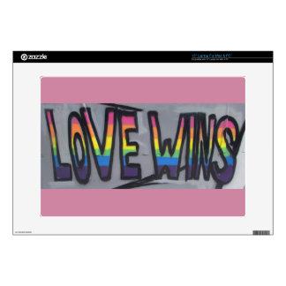"Love Wins 15"" Laptop Skins"