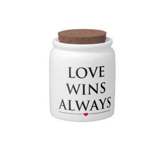 Love Wins Always Candy Jar