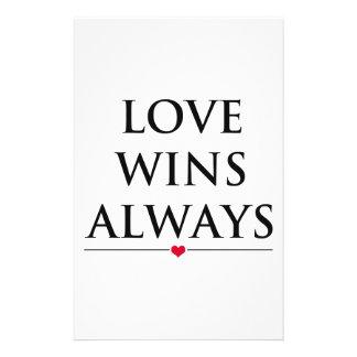 Love Wins Always Stationery