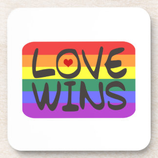 Love Wins Beverage Coaster