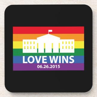 Love Wins Beverage Coaster