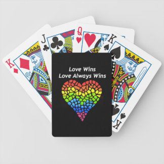Love Wins Bicycle Playing Cards