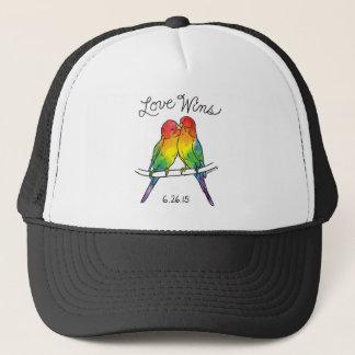 Love Wins - Budgie Birds Trucker Hat