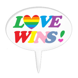 Love Wins Cake Topper
