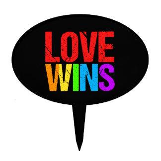 LOVE WINS CAKE TOPPER