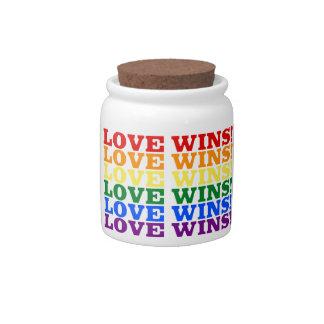 Love Wins Candy Jar