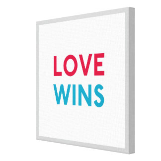 Love Wins Canvas Wrapped Print Canvas Print