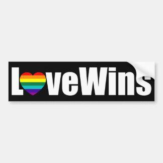 Love Wins Car Bumper Sticker