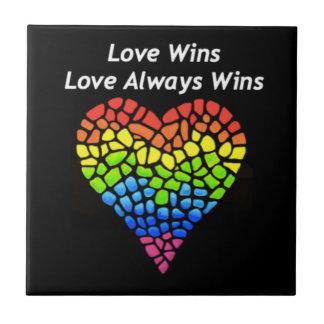 Love Wins Ceramic Tile