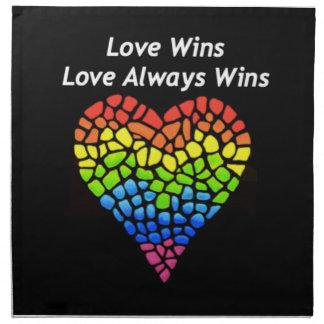 Love Wins Cloth Napkin