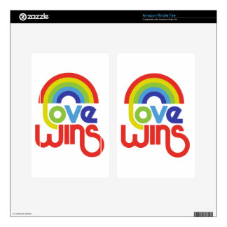 Love Wins Decals For Kindle Fire
