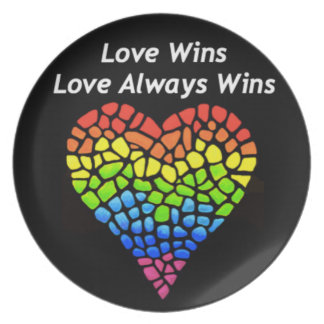 Love Wins Dinner Plate