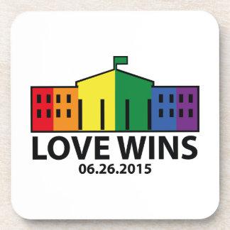 Love Wins Drink Coaster