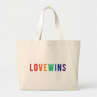 Love Wins - Equal Rights Large Tote Bag