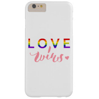 Love Wins - Hand Lettering Typography Design Barely There iPhone 6 Plus Case