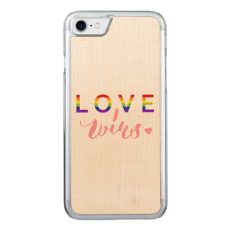 Love Wins - Hand Lettering Typography Design Carved iPhone 7 Case