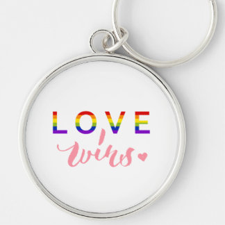 Love Wins - Hand Lettering Typography Design Keychain