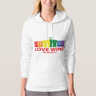 Love Wins Hooded Pullovers