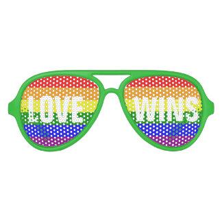 Love Wins Love Wins Love Wins Aviator Sunglasses