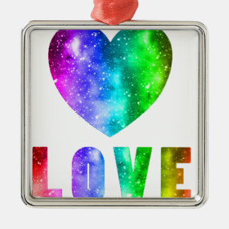 Love Wins Metal Ornament