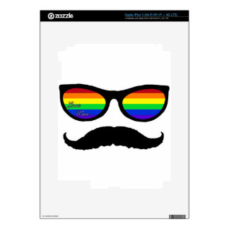 love wins mustache skins for iPad 3
