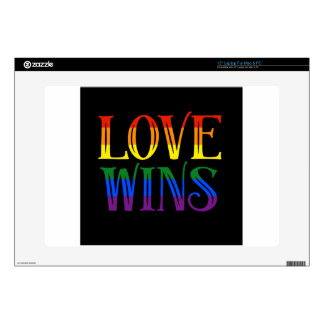 """Love Wins, Pride Flag, LGBT, Marriage Equality Decal For 15"""" Laptop"""