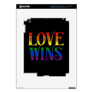 Love Wins, Pride Flag, LGBT, Marriage Equality iPad 3 Skin