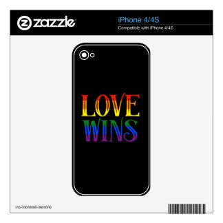 Love Wins, Pride Flag, LGBT, Marriage Equality iPhone 4 Decal