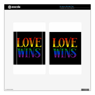 Love Wins, Pride Flag, LGBT, Marriage Equality Skins For Kindle Fire