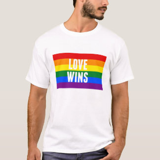 LOVE WINS pride gay marriage victory t shirt