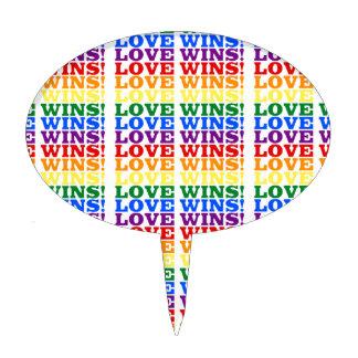 Love Wins rainbow Cake Topper