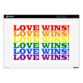 """Love Wins rainbow Decal For 15"""" Laptop"""
