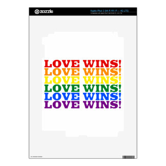 Love Wins rainbow Decals For iPad 3