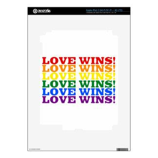 Love Wins rainbow Decals For iPad 3