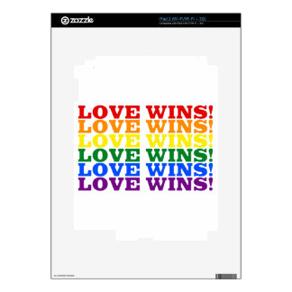 Love Wins rainbow Decals For The iPad 2