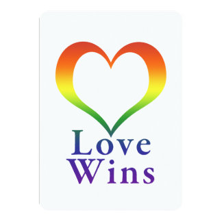 Love Wins Rainbow Heart Card