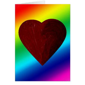 LOVE WINS! (rainbow heart) ~ Greeting Card