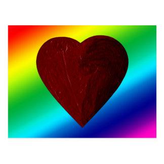 LOVE WINS! (rainbow heart) ~ Postcard